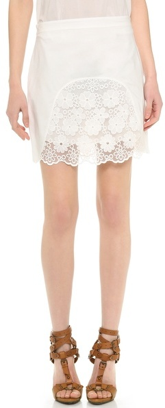 See by Chloe Floral Skirt