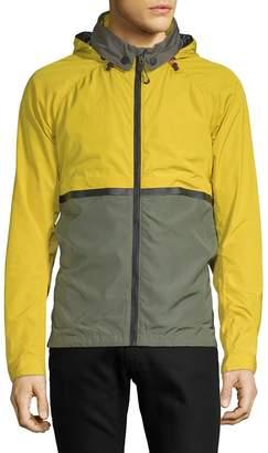 Scotch & Soda Men's Colourblock Hooded Nylon Jacket