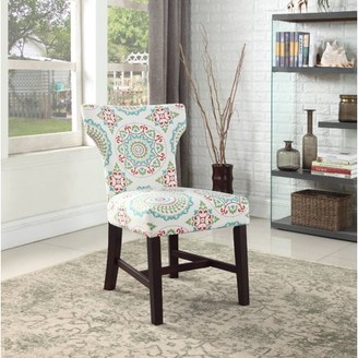 Best Master Furniture Belle Floral Upholstered Accent Chair