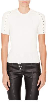 Alexander Wang Crewneck Studded Top