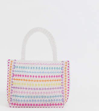 02d6fa5e53 Skinnydip Samira striped multi-coloured beaded bag