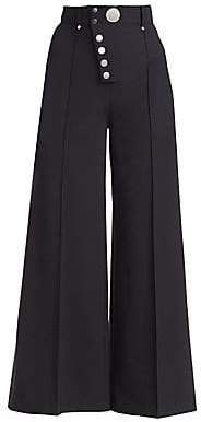 Alexander Wang Women's Multi-Button Wide Leg Trousers