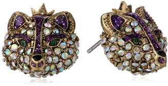 "Betsey Johnson Imperial Princess"" Fox Stud Earrings"