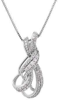 Lord & Taylor Sterling Silver, 0.50TCW White Diamond Knot Necklace