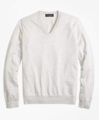 Brooks Brothers Supima Cotton V-Neck Sweater