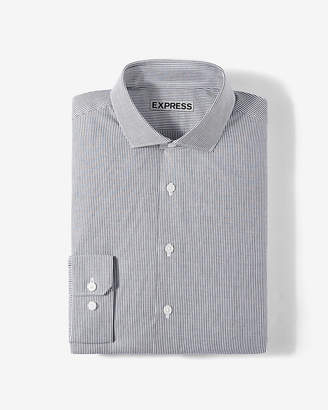 Express Slim Vertical Stripe Dress Shirt