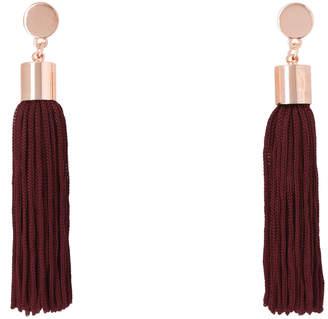 Basque Burgundy Tassel Earrings A69075BA