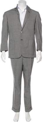 Oxxford Clothes Check Two-Button Suit