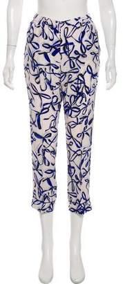 Piamita Silk Straight-Leg Pants w/ Tags