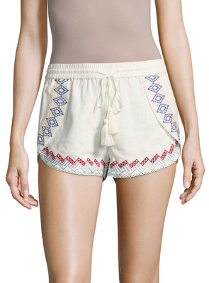 Lemon Embroidered Shorts $150 thestylecure.com