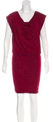 Alice + Olivia Metallic Mini Dress