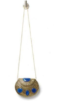 Ricki Designs Gold Stone Metal Crossbody Bag
