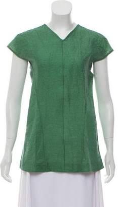 Marni Linen Short Sleeve Blouse