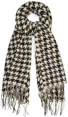 Reiss RENA LAMBSWOOL SCARF Black/white