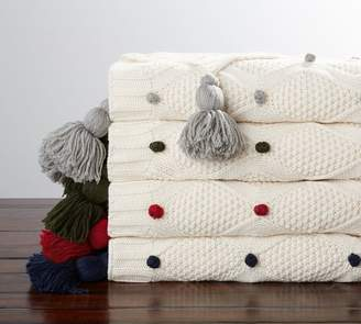 Pottery Barn Bobble Knit Throw