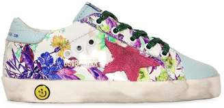 Golden Goose Super Star Floral Patent Leather Sneaker