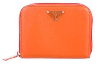 Prada Saffiano Lux Compact Wallet