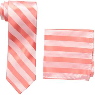Stacy Adams Men's Solid Woven Formal Stripe Tie Set