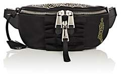 Moschino Women's Leather-Trimmed Belt Bag - Black