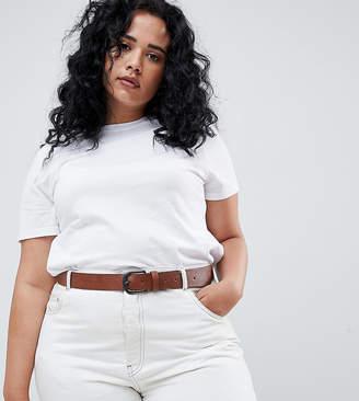 Asos DESIGN Curve vintage tan jeans belt
