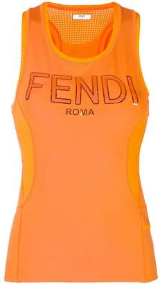 Fendi logo print tank top