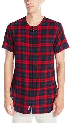 Publish Brand Inc. Men's Jerrick Full Zip Plaid Short Sleeve Shirt