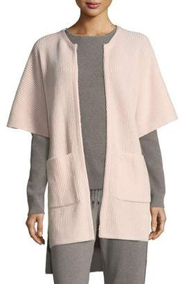 St. John Cashmere Knit Cardigan w/ Patch Pockets