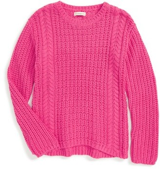 Girl's Tucker + Tate Cable Knit Sweater $42 thestylecure.com