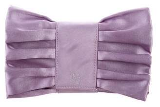 Lulu Guinness Pleated Bow Clutch