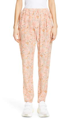 Stella McCartney Floral Print Silk Jogger Pants