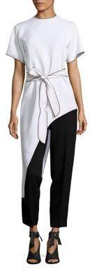Derek Lam Short Sleeve Asymmetric Tee $1,595 thestylecure.com