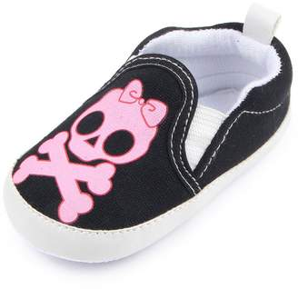 Leapfrog Baby Boys Girls Skull and Crossbones Boat Fashion Sneakers Halloween Costume Prewalker Shoes