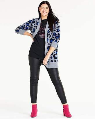 Ballet Blue Leopard Cardigan