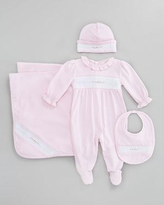 Kissy Kissy Rosebuds Baby Footie Playsuit, Pink
