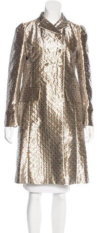 Miu MiuMiu Miu 2016 Metallic Jacquard Coat
