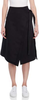 Cédric Charlier Side-Tie Wrap Midi Skirt
