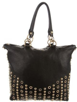 Miu Miu Miu Miu Studded Leather Satchel