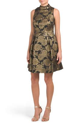 Nanette Lepore Nanette Jacquard Fit And Flare Dress