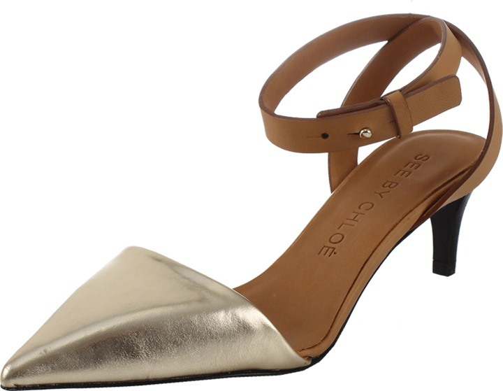 See by Chloe Ankle Strap Pointed Toe Sandal