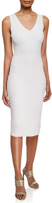 MICHAEL Michael Kors Sleeveless V-Neck Ribbed Sweater Dress