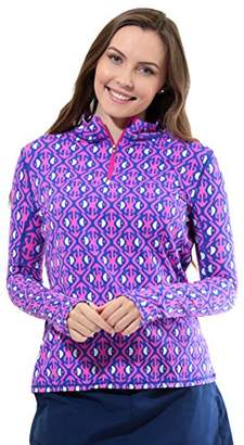 All For Color Women's Quarter Zip Sun Protective Top