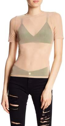 AFRM Fitted Mesh Short Sleeve Top