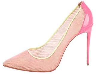 Christian Louboutin Pointed-Toe Woven Pumps