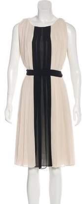 L'Agence Knee-Length Pleated Dress