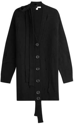 Marc Jacobs Distressed Wool Cardigan with Cashmere