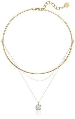 Vince Camuto Delicate Collar and Chain Swag White Pendant Necklace