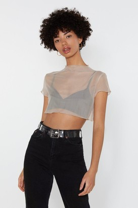 113970282d2bb Nasty Gal Glad to Sheer It Mesh Crop Top
