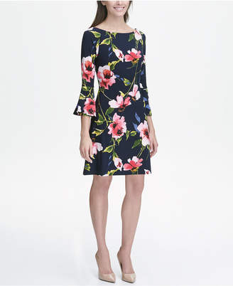 Tommy Hilfiger Printed Jersey Bell Sleeve A-line Dress ca1f4982e