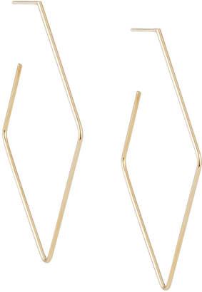 Lana 14k Wire Diamond-Shaped Hoop Earrings, 50mm