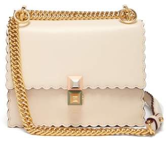 Fendi Kan I Small Leather Cross Body Bag - Womens - Cream